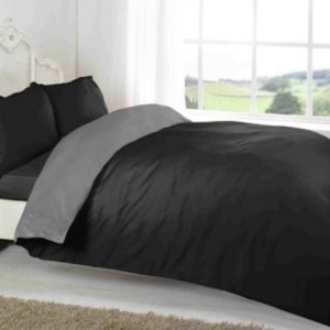 blackgrey plain bed sets jual bleckgrey plain bed murah